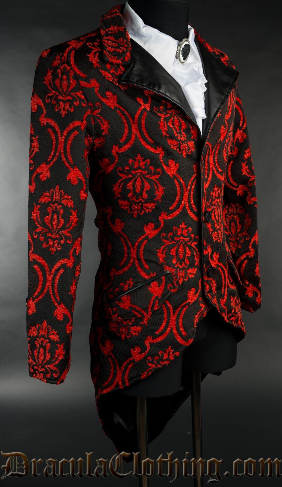 Red Brocade Tailcoat