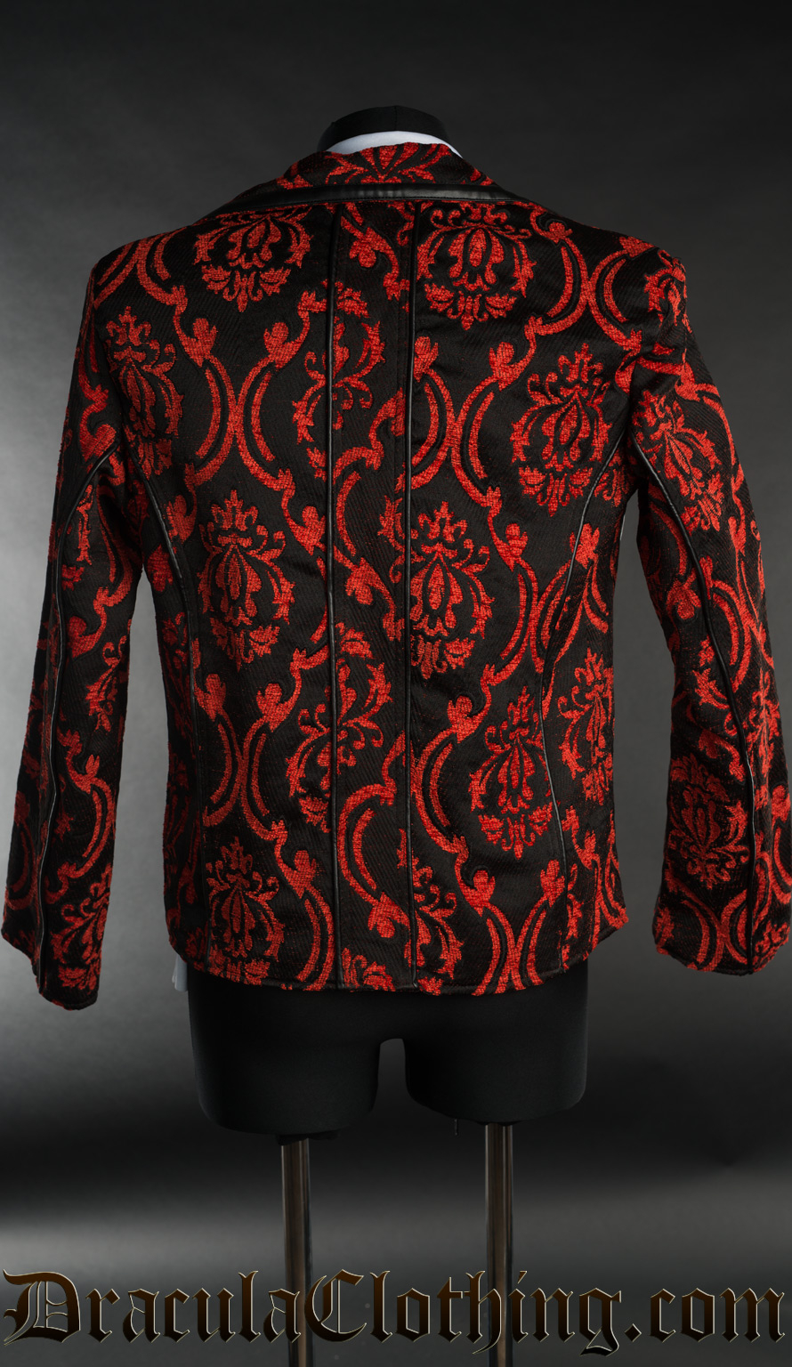 Red Brocade Tesla Jacket