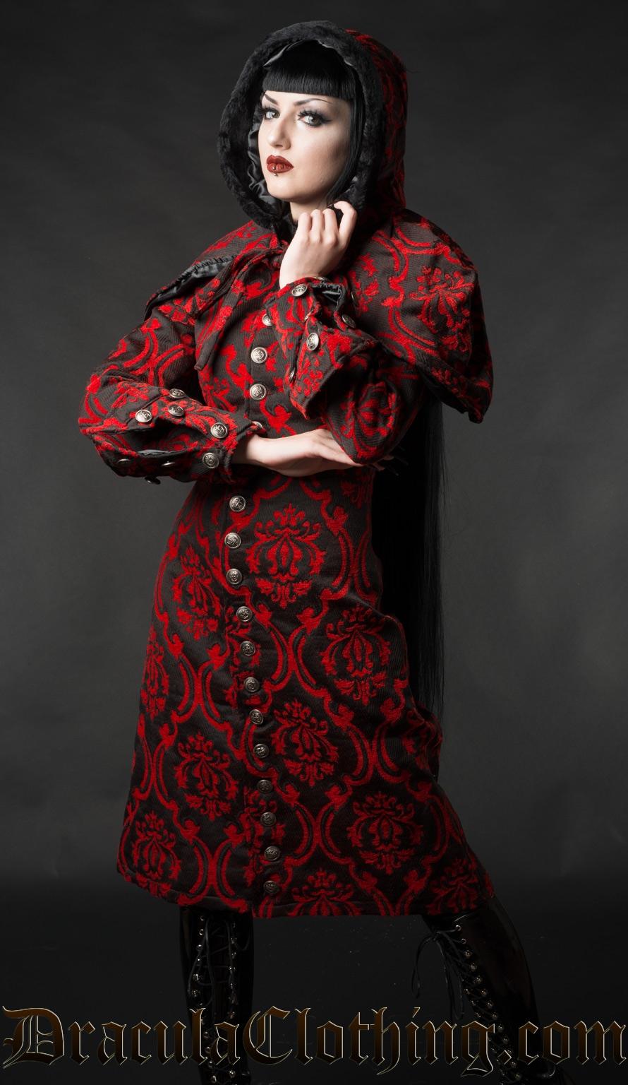 Red Brocade Female Admiral Coat