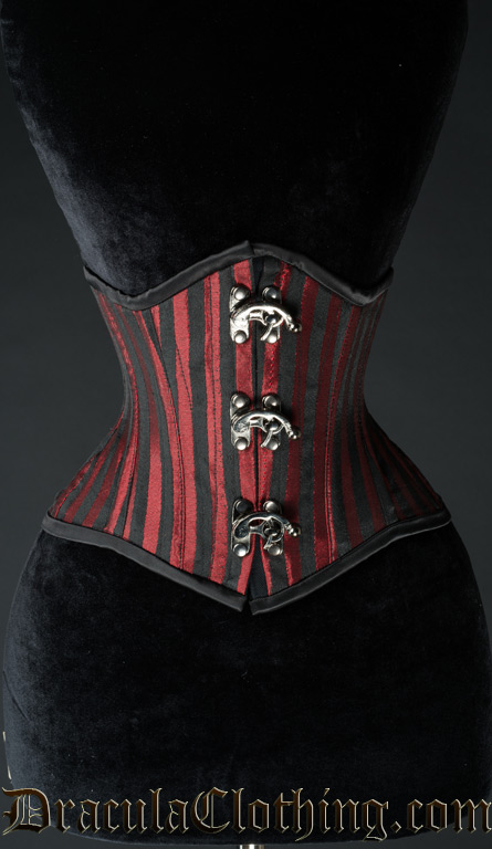 Red Stripes Extreme Waist Clasp Cincher