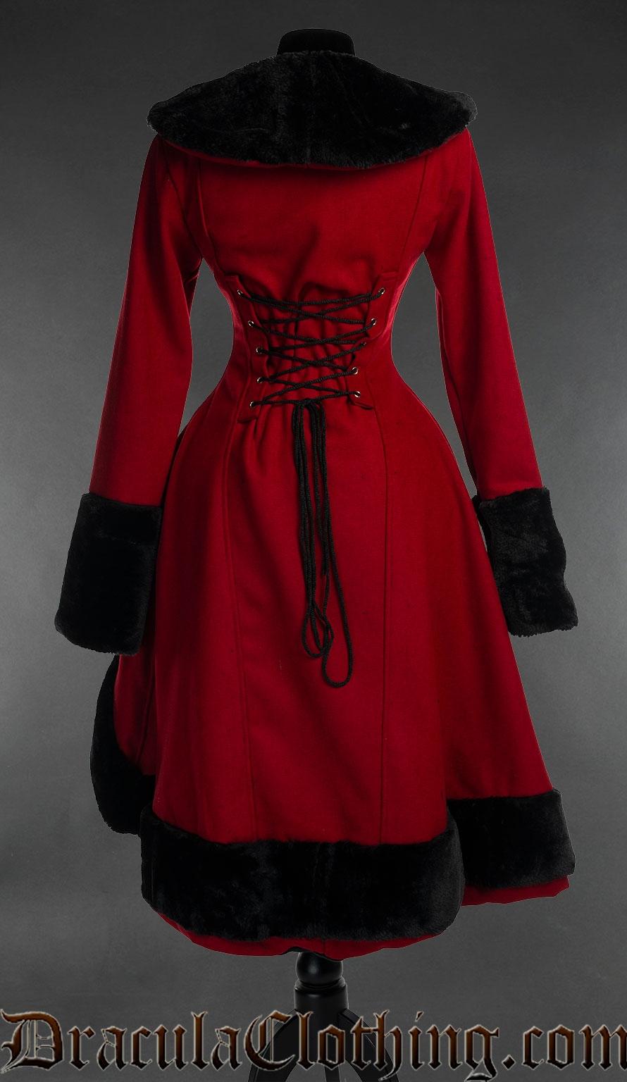 Red Wool Princess Coat