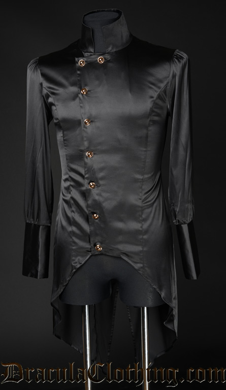 Black Satin Regal Shirt
