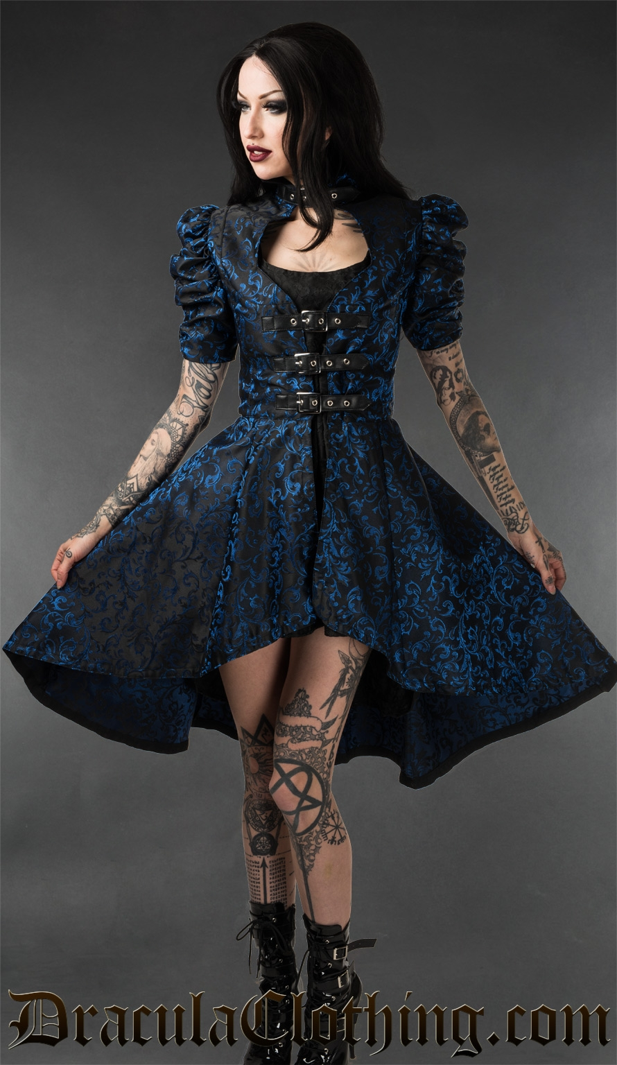 Sapphire Neo Victorian Coat - Coats And Jackets - Ladies -1586