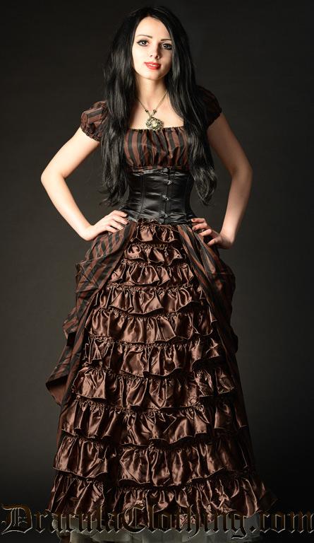 Steampunk Striped Victorian Dress