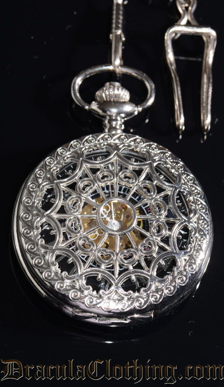Silver Steampunk Pocket Watch