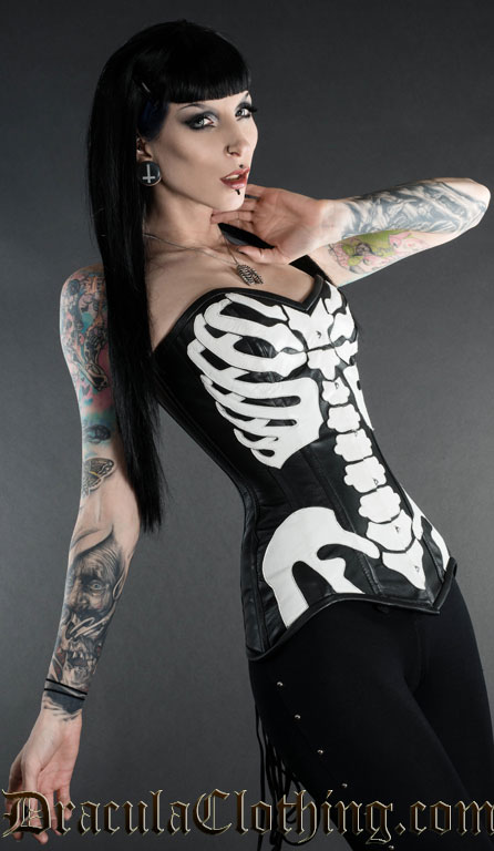 Skeleton Leather Corset