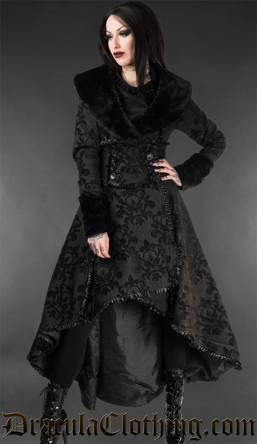 Skull Brocade Evil Queen Coat