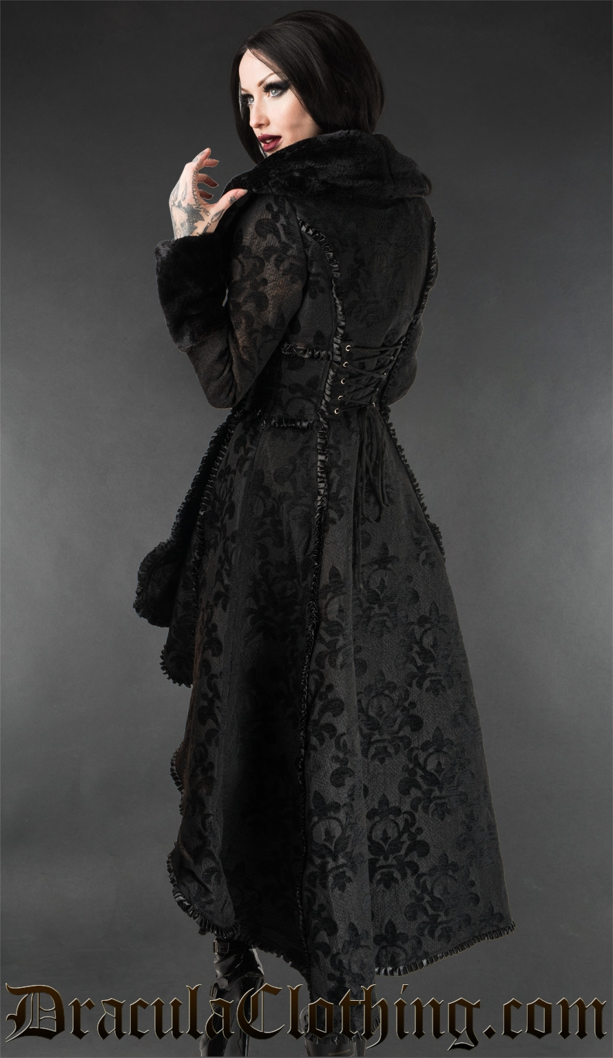 Skull Brocade Evil Queen Coat