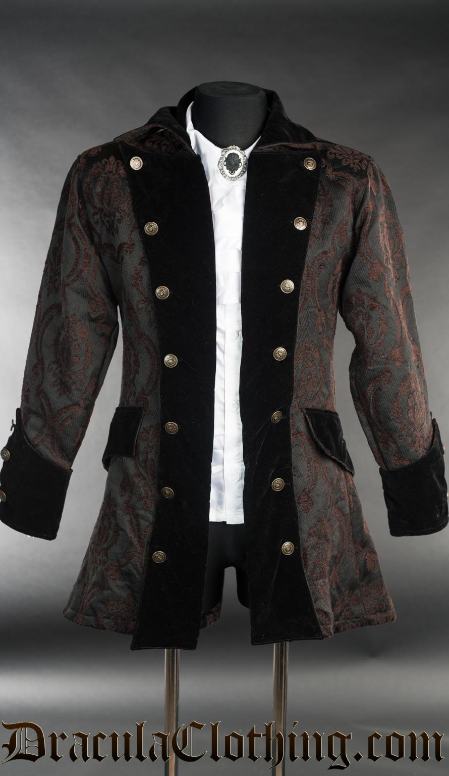 Steampunk Brocade Pirate Jacket