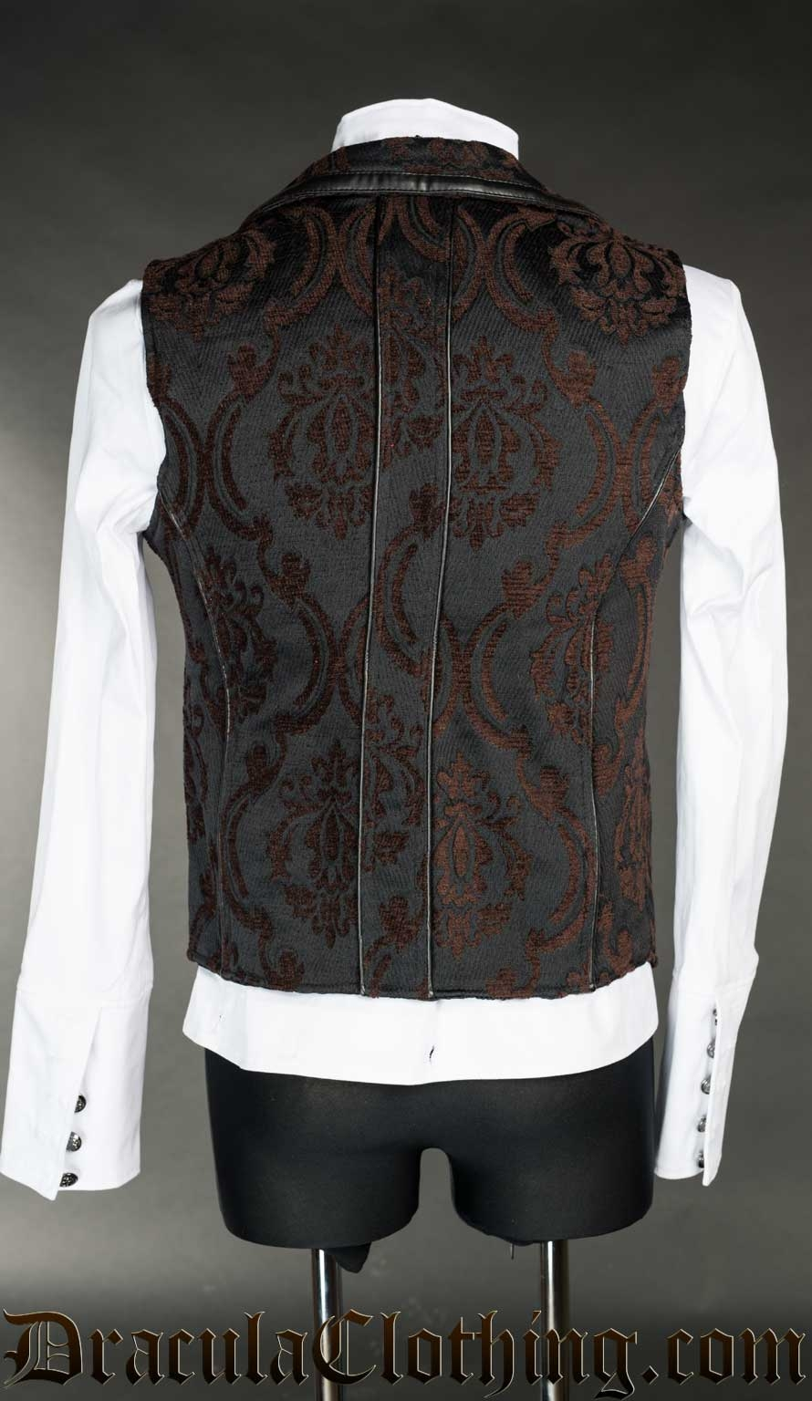 Steampunk Brocade Spiked Vest