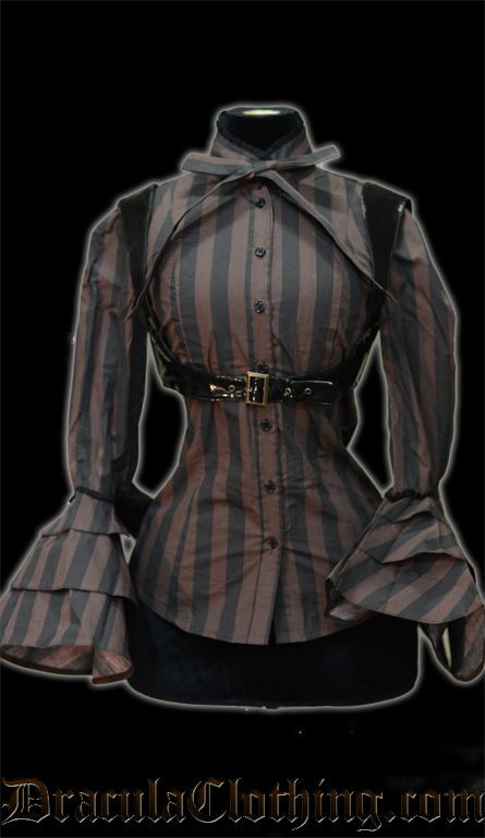Steampunk Buckle Blouse