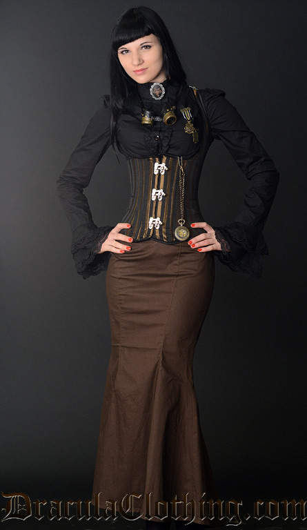Steampunk Fishtail Skirt