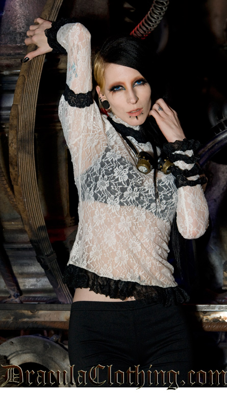 Steampunk Lace Top