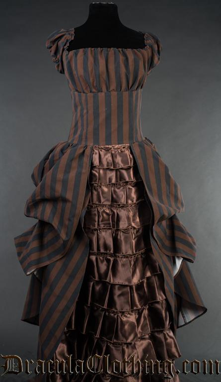 Steampunk Striped Dress