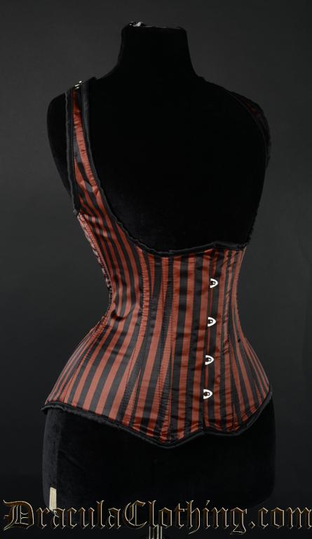 Steampunk Striped Shoulder Corset