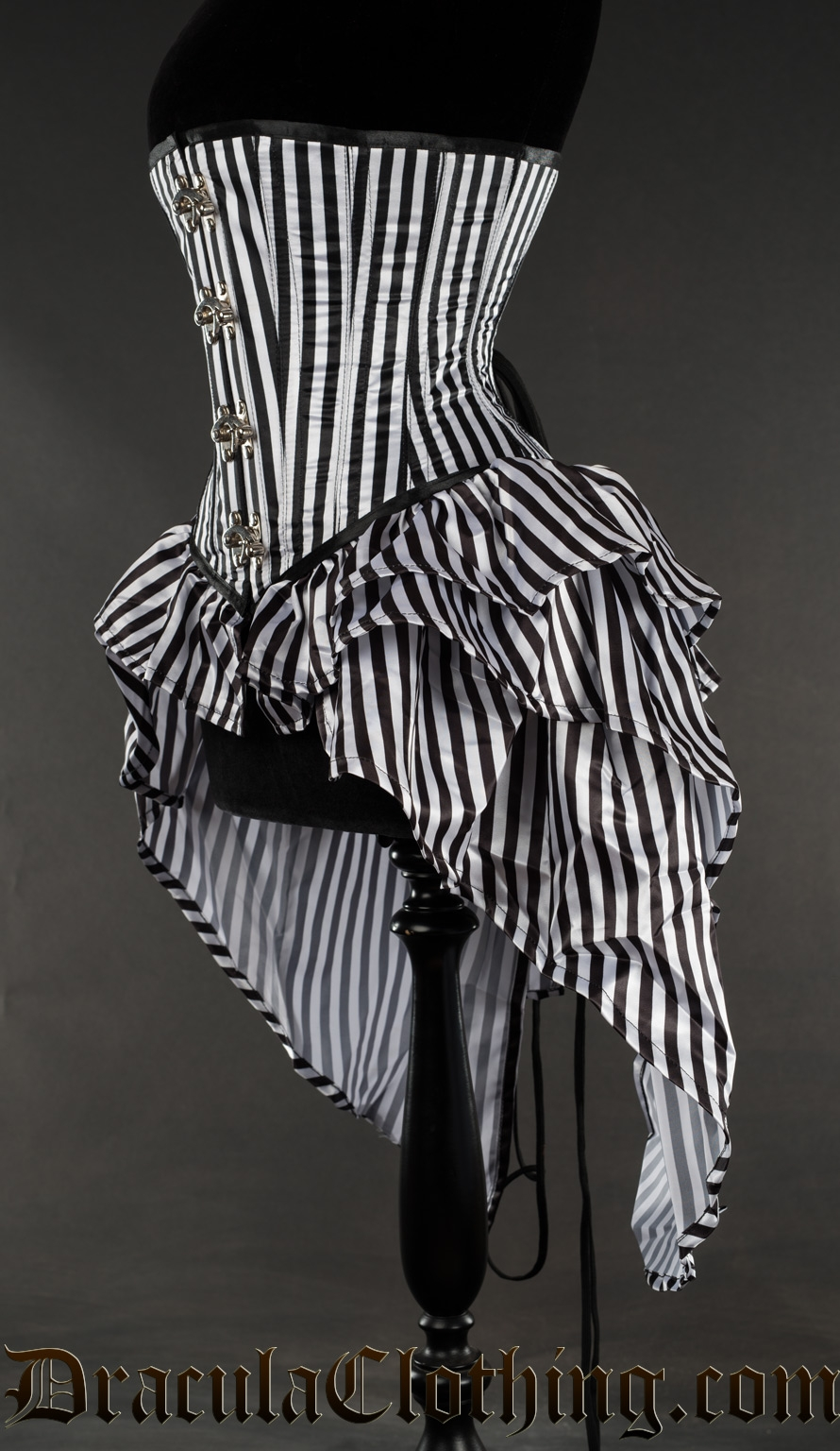Striped Bustle Clasp Corset