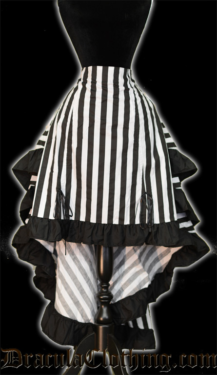Striped Layer Bustle Skirt