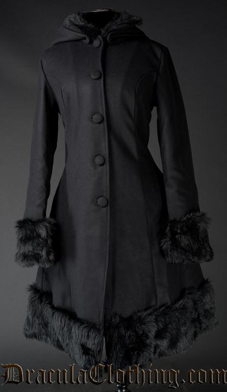 Black Winter Wool Coat