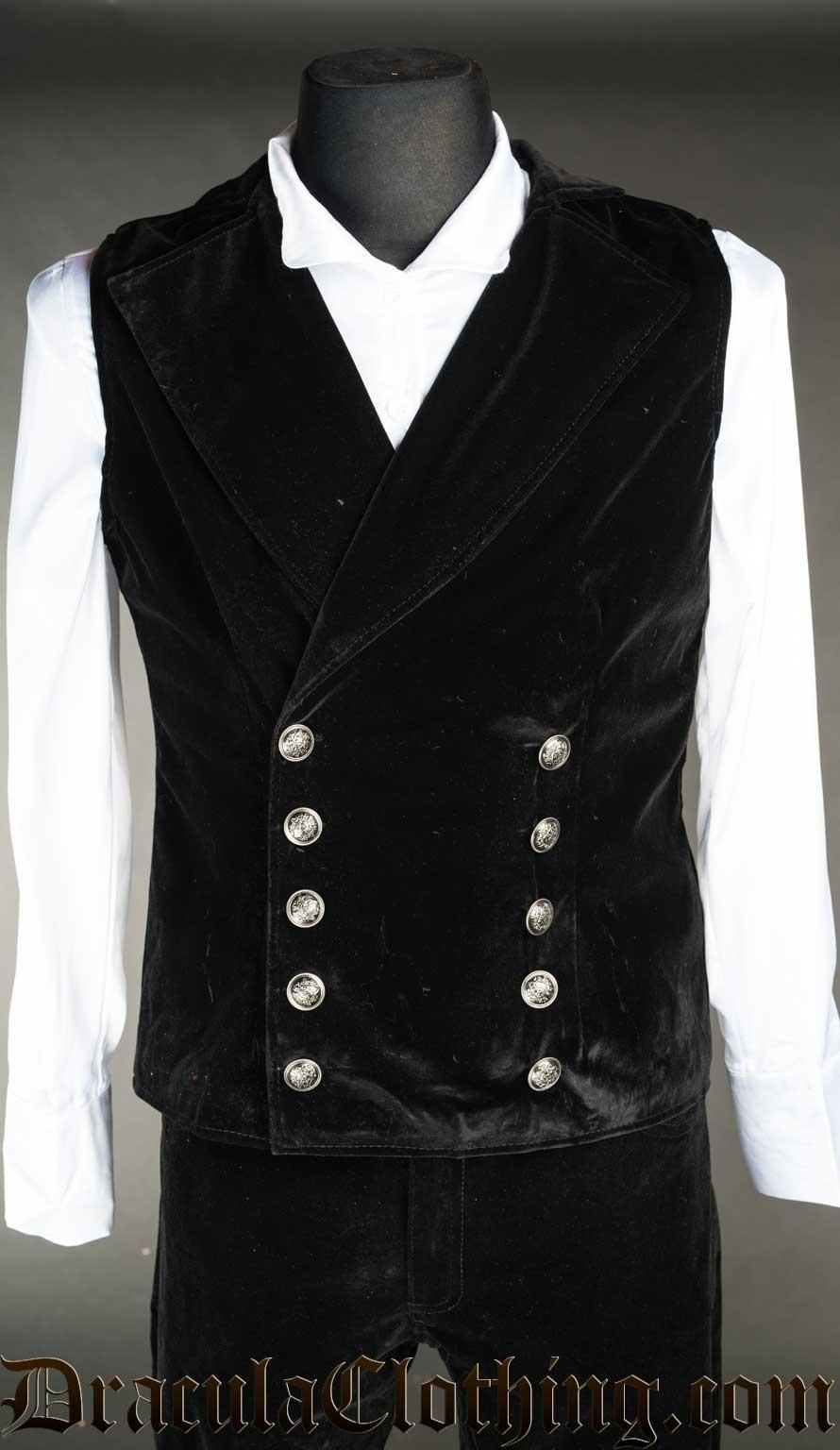 Velvet Double Buttoned Vest