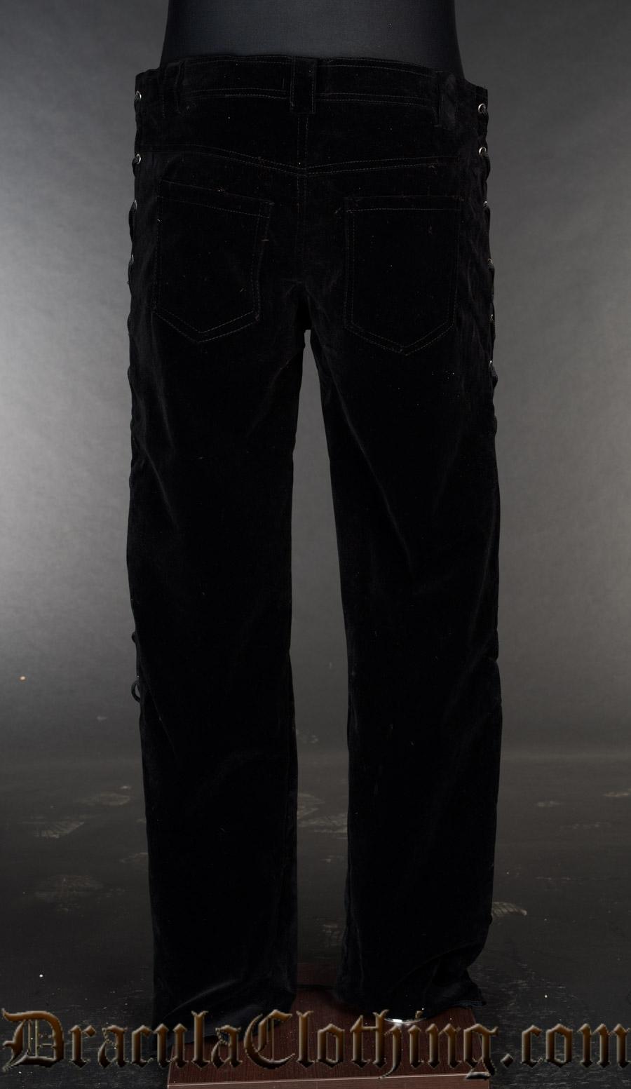 Velvet Laced Pants