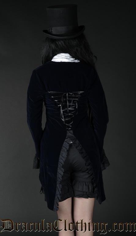 Midnight Blue Velvet Tailcoat