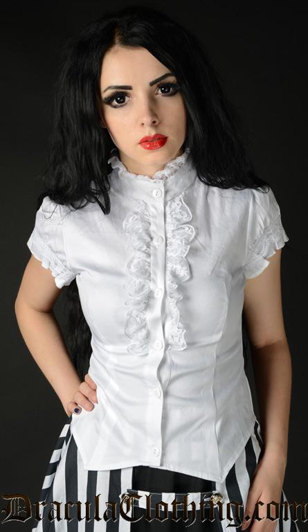 Ladies White Short Sleeved Blouse 72