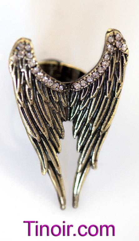 Black Angel Wings Ring