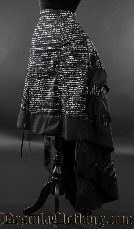 Writing Layer Bustle Skirt